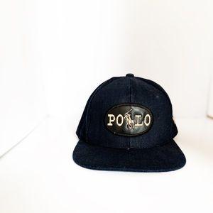Men's Ralph Lauren Navy Blue Black Logo Hat